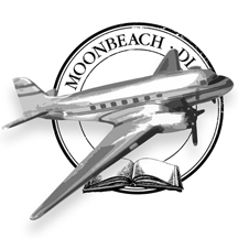 Moonbeach Diary Stamp plane2
